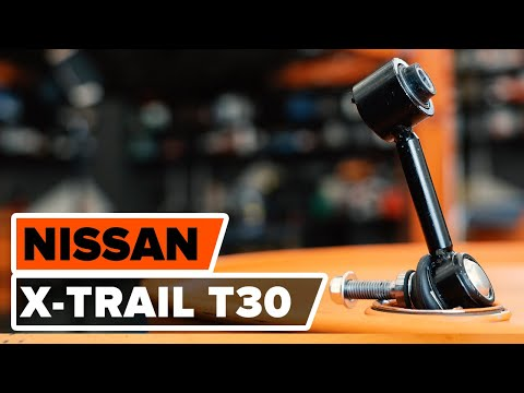 How to replace front anti roll bar link on  NISSAN X-TRAIL T30 TUTORIAL | AUTODOC