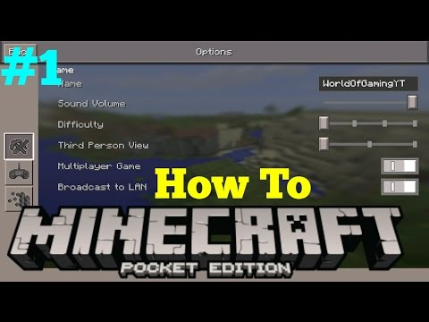 How to Minecraft: Pocket Edition Ep. 1 - Setting Up the Options Menu (As of 0.14.1)