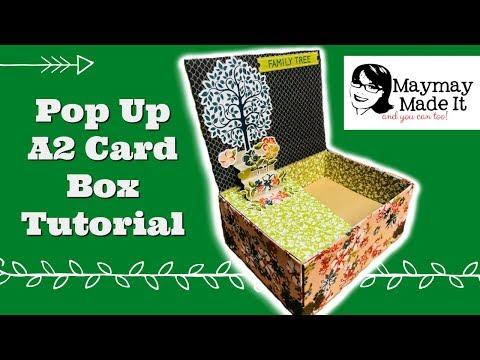 Pop Up A2 Card Storage Box