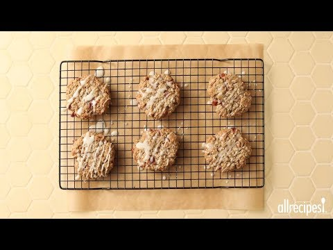 How to Make Bacon Oatmeal Breakfast Cookies With Maple Glaze | Cookie Recipes | Allrecipes.com