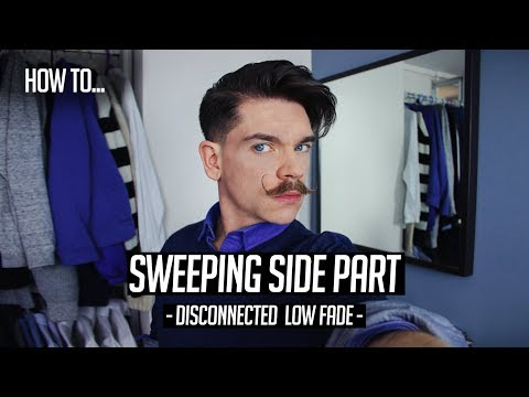 Side Part Sweeping Hairstyle | Low Fade | Hair How To