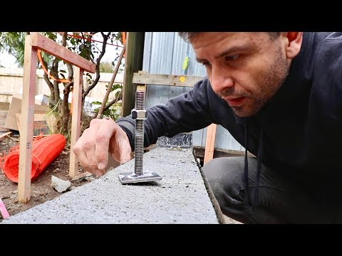 Small Concrete Wall (putting in anchor bolts)