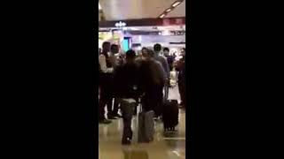 IGI Airport, crowds break into spontaneous applause when they see IndianArmy soldiers.