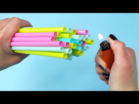 8 DIY Projects With Drinking Straws - 8 Drinking Straws Crafts and Life Hacks