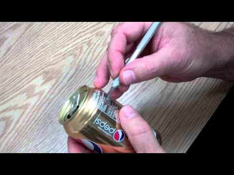 Skin and Flatten a Soda Can