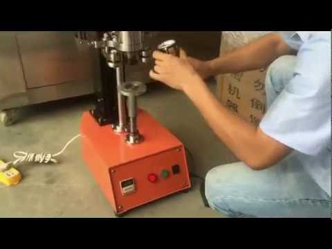 semi automated table top can seaming machine round cans closing equipment seamer closer