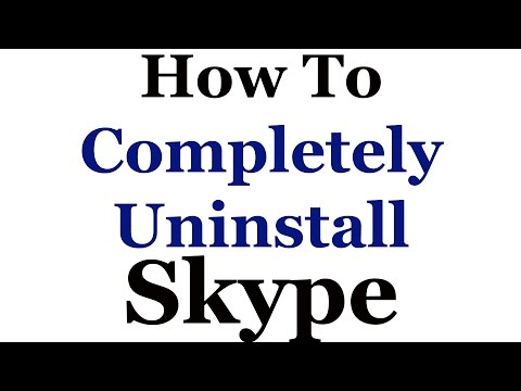 How To Uninstall (Remove) Skype From Windows 7 & 8