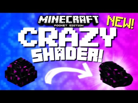 Minecraft Pocket Edition - CRAZY WARP SHADERS! (Yes, another...)