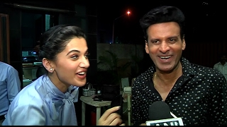 Manoj Bajpai & Tapsee Pannu Funny Interview at