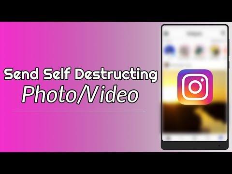 Send Self Destructing Photo or Video On Instagram