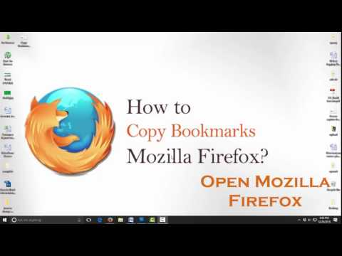 how to Copy Bookmarks list from Mozilla Firefox browser