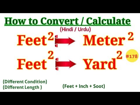 How to Convert Square Feet to Square Meter || How to Convert Square Feet to Square Yard [Hind/Urdu]
