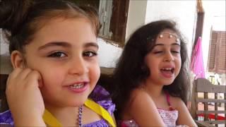 Little Lebanoni girls singing Malayalam Songs ( Kaathirunnu )