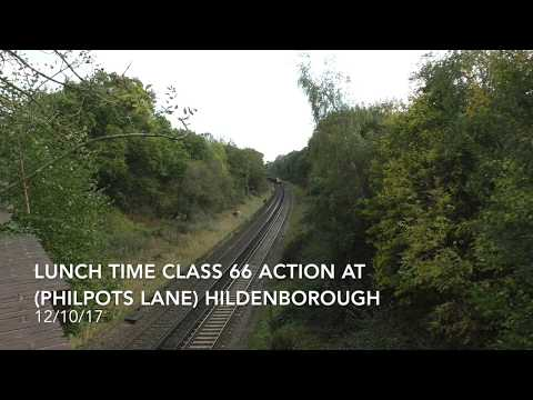 (HD) Lunch time GBRf Class 66 action at Hildenborough - 12/10/17