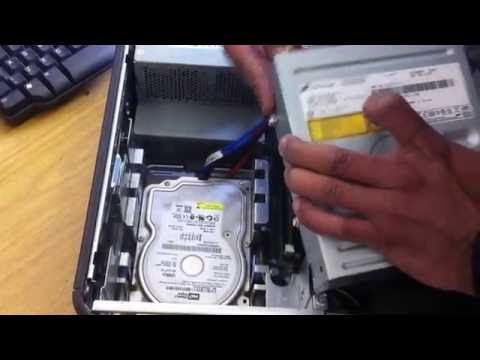 How to Open and Replace DVDrom/CD/RW for Dell Optiplex GX620 520 745 755 Desktop Tower PC