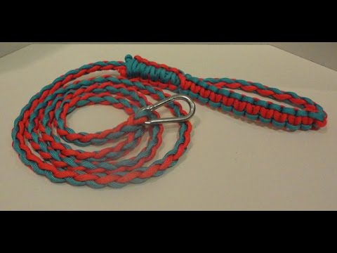 DIY Dog Leash Made from Parachute Cords on Hands On Crafts for Kids (1511-1)