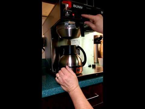 Bunn Coffee Adjusting Brew Volume CWTF Twin - TC