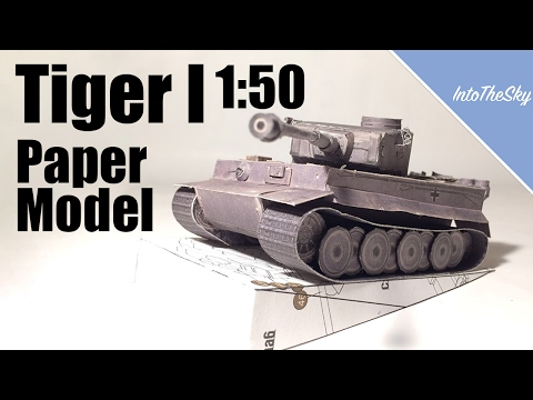 Tiger 1 1:50 Paper Model | Timelapse Build