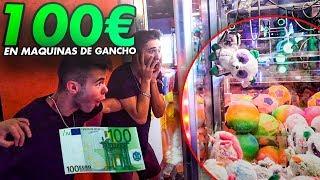 GASTANDO +100€ EN MAQUINAS DE GANCHO ¿CUANTOS PELUCHES CONSEGUIREMOS a LA VEZ? [Dualcoc]