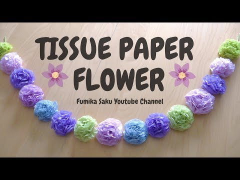 How to make Tissue paper flowers (easy!)