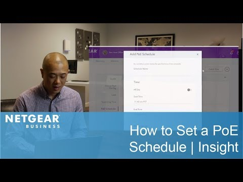 How to Set a PoE Schedule | Insight Tutorials
