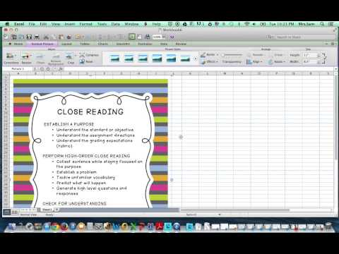 Create a Poster in Excel