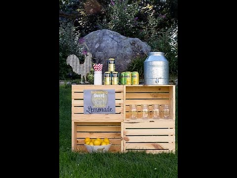 DIY Rustic Summer Drink Station / Lemonade Stand #SummerRefreshment #Peapod #AD