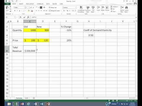 Elasticity Video in Excel
