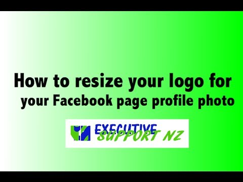 How to resize your logo for your FB page profile
