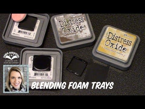 Storage Idea - Blending Foam Trays for Distress Oxide Inks