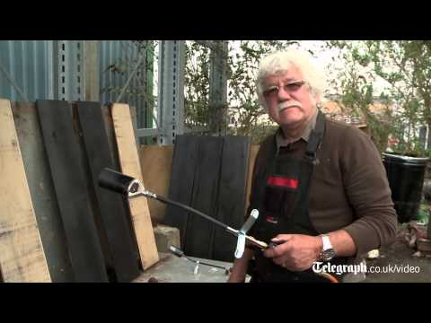 RHS Chelsea wood charing: getting the Kyoto burnt oak effect