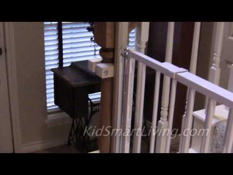 How to Install Baby Gates on Stairway Railing Banisters Without Drilling the Post