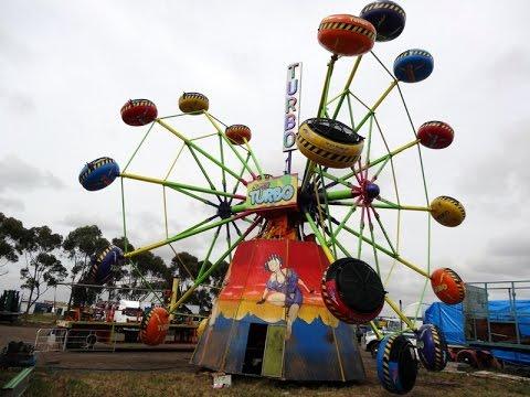Chance TURBO Amusement Ride - test run [HD] - forwards & backwards 2016