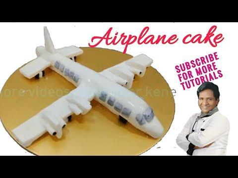 HOW TO MAKE FONDANT AIRPLANE CAKE