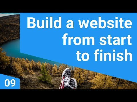 Build a responsive website tutorial 9 - Designing the home page (timelapse)