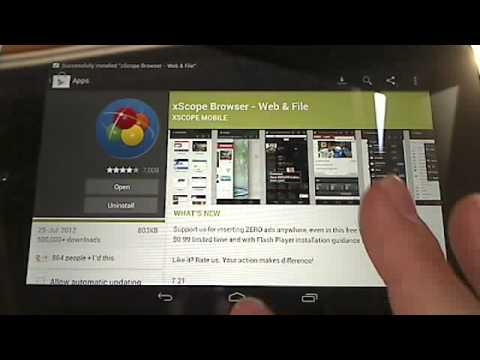 Installing Flash 11.1 on Android 4.1 Jelly Bean Nexus 7