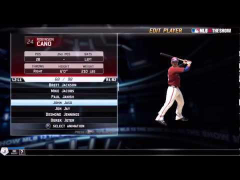 MLB 13 The Show -- Roster/Editing Menu Part 2