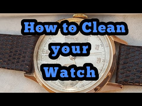How to clean your watch with home products