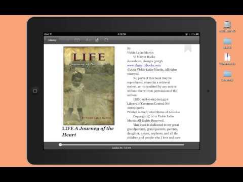 iPad Tutorial - Highlighting text in Kindle Cloud Reader