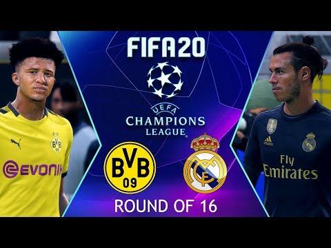 Borussia Dortmund vs Real Madrid | FIFA 20 UEFA Champions League Highlights