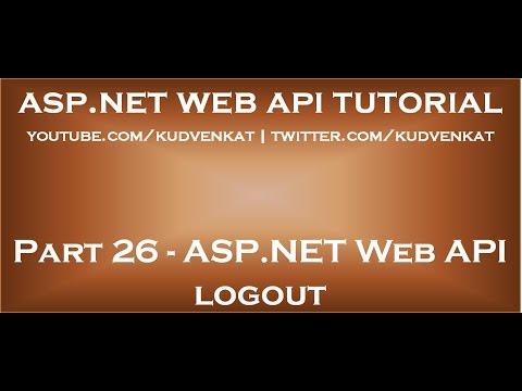 ASP NET Web API logout