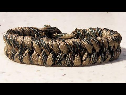 How To Make A Paracord Fishtail Survival Bracelet No Buckle