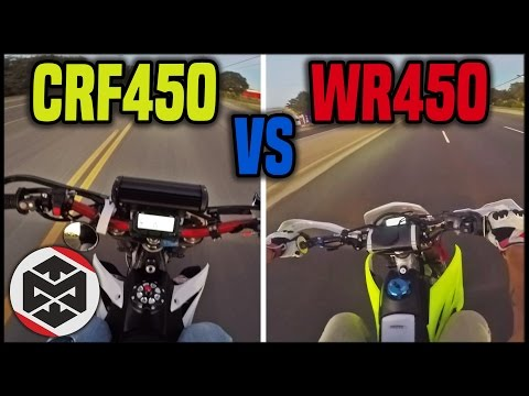 CRF450 vs WR450!! (Supermoto)