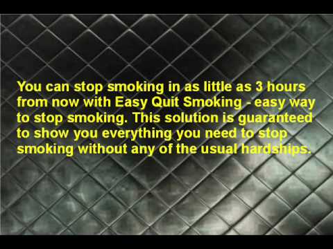 Easy Way To Stop Smoking With Easy Quit System