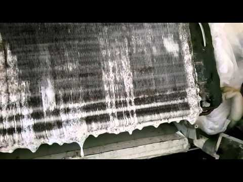 AC indoor unit  evaporate coil clean with chemical