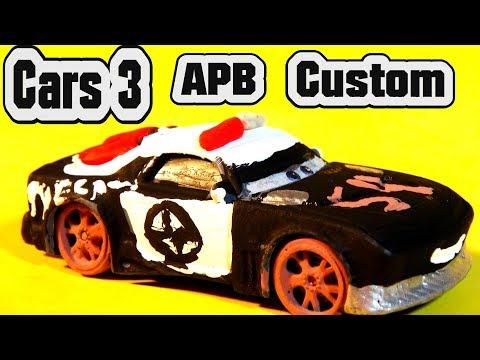 Pixar Cars 3 Custom Diecast APB Demolition Derby Crazy 8 Cars with Lightning McQueen Zebra Mater