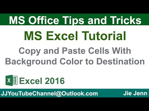 Copy and Paste Colored Cells To Destination using VBA   Excel Tutorial