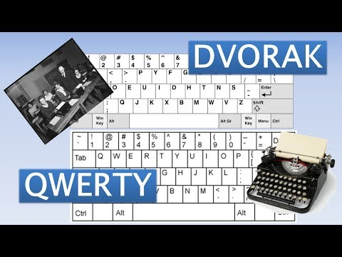 DVOARK vs QWERTY - Different keyboard layouts