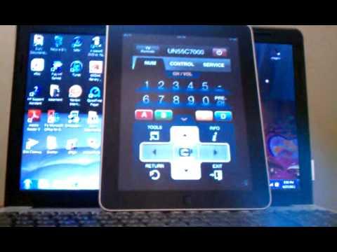ipad control samsung led smart tv and net flex