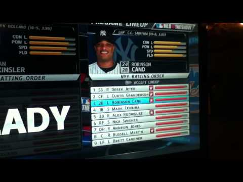MLB 12 The Show Yankees Roster and Lineups